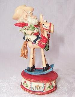 1987 Enesco The North Pole Village Elf Figurine JIGGLE Horse 876887 Box ZIMNICKI