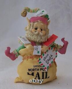 1990 Enesco The North Pole Village Elf Figurine CRINKLES with Box 830143 ZIMNICKI