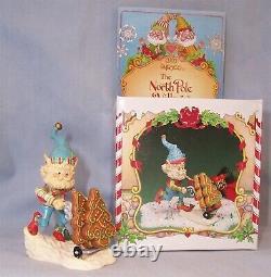 1992 Enesco The North Pole Village Elf Figurine FRONSIE with Box 830895 ZIMNICKI