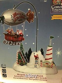 2011 Lemax Carole Towne North Pole Air Field Christmas Village Decor