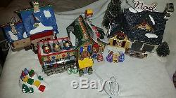 4 Department North Pole 56 House Lego & Knitters & Snow Village Noel house
