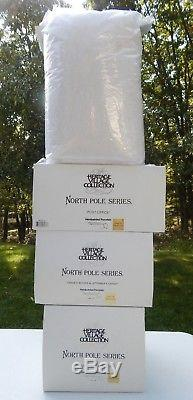 All New Dept 56 Nice North Pole Village Display 14+ Buildings Spell NORTH POLE 2
