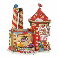 Candy Crush Factory Dept 56 North Pole Village 4056669 Christmas shop snow Z