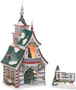 Christmas 56 North Pole Village Rudolph's S and G Tree Toppers Lit House