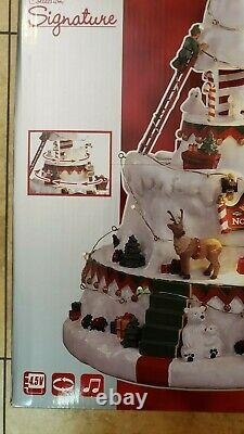Christmas Village 2018 NORTH POLE TOWER #84348 Sights & Sounds by LEMAX NIB