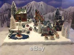 Christmas Village Display Base Platform W Dept56 North Pole Scene. All Incuded