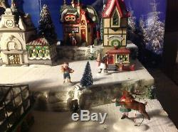 Christmas Village Display Platform Complete Dept 56 North Pole Scene. Every Incl