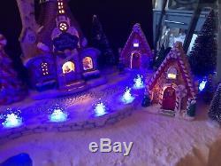 Christmas Village Display Platform For Dept 56 North Pole Lemax Lights Up