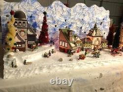 Christmas village display platform Complete Dept56 North Pole Scene And Back