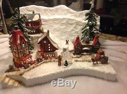 Christmas village display platform With Dept 56 Northpole Scene