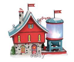 Coca-Cola Bubbler Dept 56 North Pole Village 6003110 Christmas Snow Houses Santa