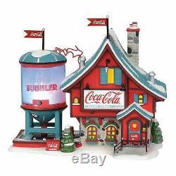 Coca-Cola Bubbler Dept 56 North Pole Village 6003110 Christmas Snow animated A