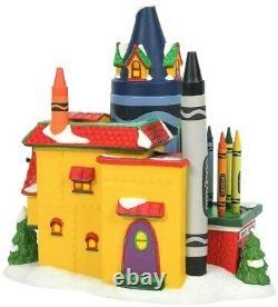 Crayola Crayon Factory Department 56 North Pole Village 6007613 Christmas Z