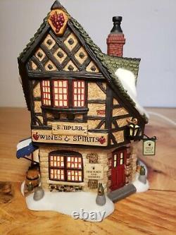 DEPARTMENT DEPT 56 Dickens Village E. TIPLER AGENT FOR WINE & SPIRITS MINT