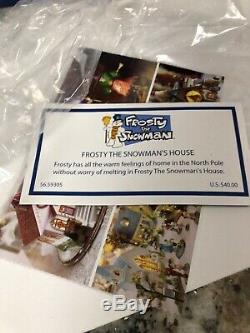 DEPT 56 FROSTY THE SNOWMAN'S HOUSE Christmas Village Lighted RARE In Box