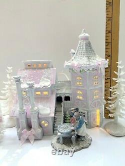 DEPT 56 NORTH POLE Forge and Assembly Shop Shabby Pink Chic Rose