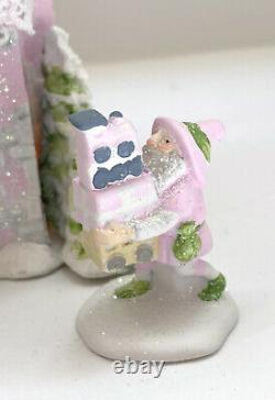 DEPT 56 NORTH POLE Rimpy's Bakery Tin Soldier Toy Shop Shabby Pink Chic Rose