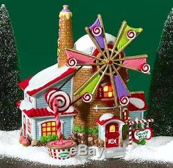 DEPT 56 NORTH POLE VILLAGE CHRISTMAS CANDY MILL 56762 ANIMATED BRAND NEW WBX