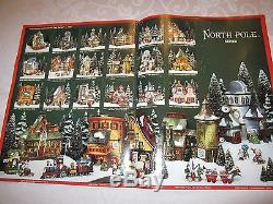 DEPT. 56 NORTH POLE VILLAGE-COLLECTION OF 106 ITEMS