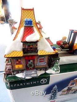 Dept 56 North Pole Village Lego Forklift Animated Mib