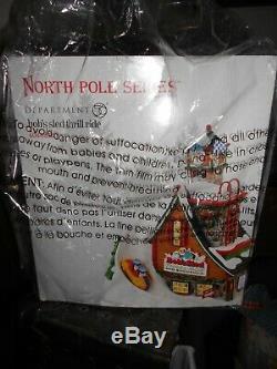 DEPT 56 NORTH POLE Village BOB'S SLED THRILL RIDE NIB Still Sealed