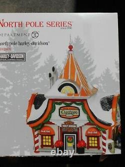 DEPT 56 NORTH POLE Village NORTH POLE HARLEY-DAVIDSON NIB Still Sealed