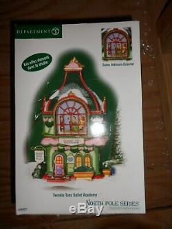 DEPT 56 NORTH POLE Village TWINKLE TOES BALLET ACADEMY NIB