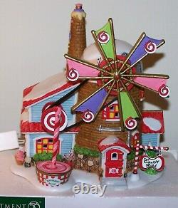 DEPT 56 North Pole CHRISTMAS CANDY MILL Animated 56762 Elf Christmas Village