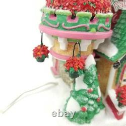 DEPT 56 NorthPole POINSETTIA PALACE Christmas Village Retired Autographed Read