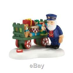 Department 56 Ceramic North Pole Village Christmas Toys On Schedule Decoration