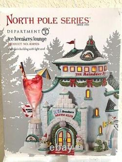 Department 56 Christmas Snow Village North Pole Ice Breakers Lounge Mint