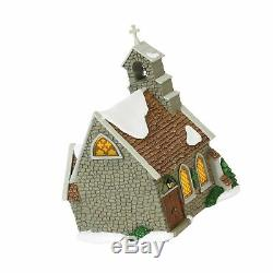 Department 56 Dickens Village Isle of Wight Chapel Lit Building and Accessori