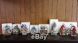 Department 56 Heritage Village North Pole Series Lot of 7 Houses Dept. 56