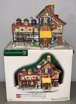 Department 56 Lego Building Creation Station Christmas Village House North Pole