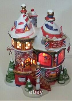 Department 56 Lighted Village Building #56958 NORTH POLE BEARD TRIMMERS (2007)