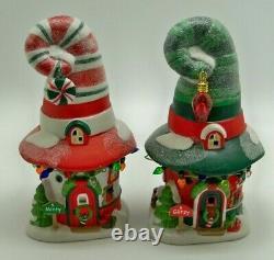 Department 56 MERRY LANE COTTAGES Set of 2 NORTH POLE Village Christmas
