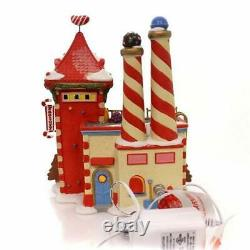 Department 56 North Pole Candy Crush Factory Village Lit Building Multicolor