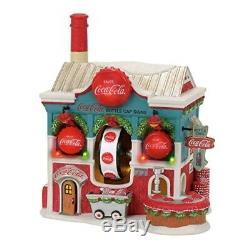 Department 56 North Pole Coca Cola Bottle Caps Factory Village Lit Building Mul