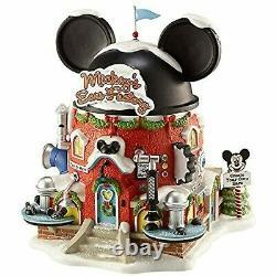 Department 56 North Pole Disney Village Mickey's Ear Factory Lit Building