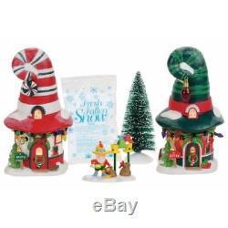 Department 56 North Pole Merry Lane Cottages Village Boxed Set, Multicolor