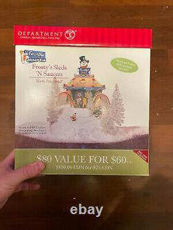 Department 56 North Pole Series Frosty's Sleds N Saucers Christmas Village withBox