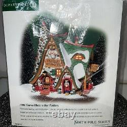 Department 56 North Pole Series Hand Carved Nutcracker Factory #56.56753 2002