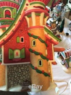 Department 56 North Pole Series Lighted Christmas Village Poinsettia Palace