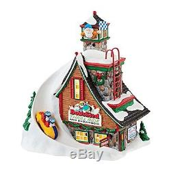 Department 56 North Pole Series Village Bobs Sled Thrill Ride Light House, 7.88