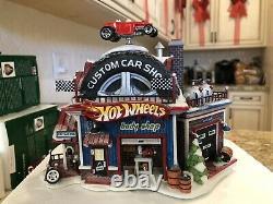 Department 56 North Pole Series Village Hot Wheels Custom Car Shop