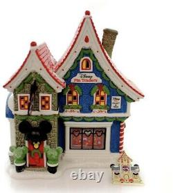 Department 56 North Pole Series Village Mickey'S Pin Traders With Pin Light