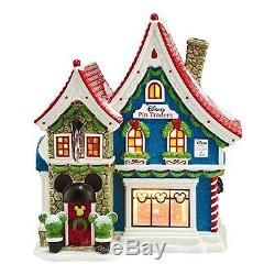 Department 56 North Pole Series Village Mickey's Pin Traders with Pin Light Hous
