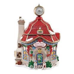 Department 56 North Pole Series Village Star Brite Glass Ornament Lit House, New
