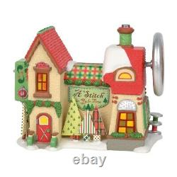 Department 56 North Pole Village A Stitch in Yule Time NEW