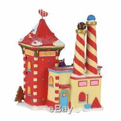 Department 56 North Pole Village Candy Crush Factory Lit Building, Multicolor